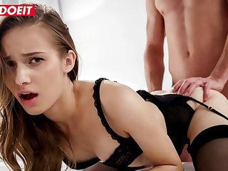 LETSDOEIT - Glamorous Russian Teen Jessica Portman Offer To Her BF Real Hardcore Morning