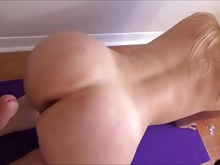 Big Breasted Sister Does Yoga With Little Brother - Family Therapy - Preview