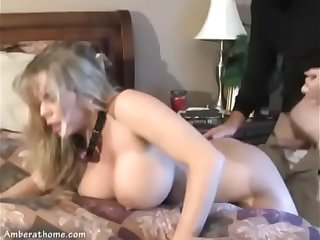 Blond milf Caught by Intruder