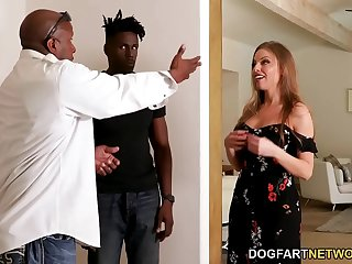 Married Britney Amber Offers Anal Sex And DP For New Black Neighbor
