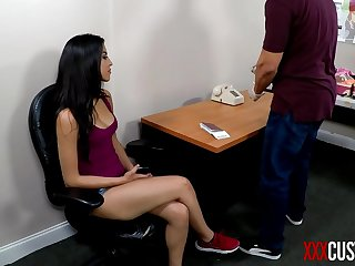 XXX Customs - Sophia Leone Stripped and Humiliated by Horny Officer