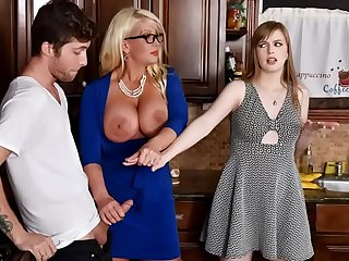 Daughter Joins Her Step Mom Fucking Her Boyfriend - Alura Jenson, Dolly Leigh