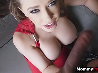 Hot milf mom finds out her step son watches family porn
