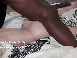 Super screaming slut sucks huge bbc then he fucks her pussy and ass
