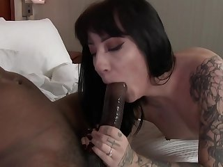 Hotel Employee Drilled By Big Black Cock