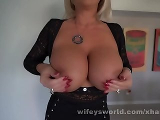 MILF With Huge Tits Sucks Off And Swallows Her Roofer