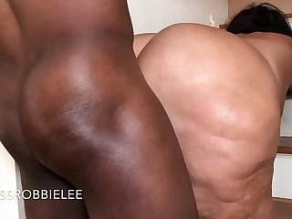 I Get My Tanned White Bubble Butt Fucked On My Steps...-follow IG @Milf Robbielee