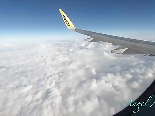 Public Airplane Blowjob