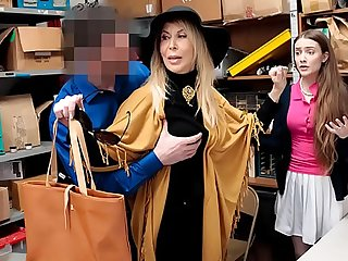 Security Officer Fucked Grand daughter as Well as Grand Mother For Shoplifting