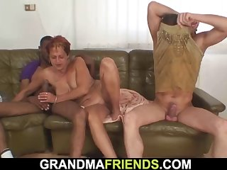old shaved pussy mature woman double penetration
