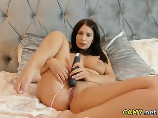 cute stepmother having fun with vibrator