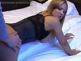 horny blonde milf having a real orgasm with her neighbor