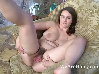 adelia rosa strips nude on her chair and enjoys it