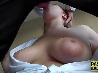 Throated sub gets anally pounded and jizzed