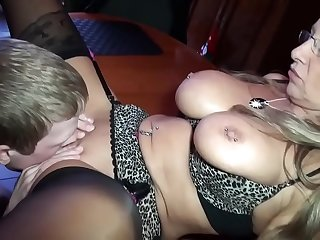 sexy granny fucked by a young lan